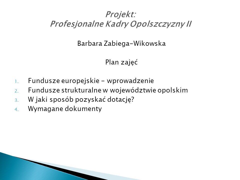 Program Infrastruktura i Środowisko – finansowany z EFRR i FS Program Innowacyjna Gospodarka – finansowany z EFRR Program Kapitał Ludzki – finansowany z EFS Program Rozwój Polski Wschodniej – finansowany z EFRR Program Pomoc Techniczna – finansowany z EFRR 16 programów regionalnych – finansowane z EFRR