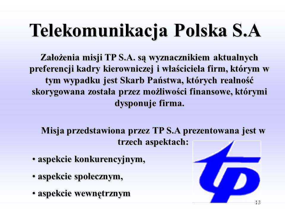 12 Misja Poczty Polskiej rozkłada się na dwie grupy celów. Utrzymanie dotychczasowych usług i form działalności wraz z bieżącą adaptacją do zmian zach