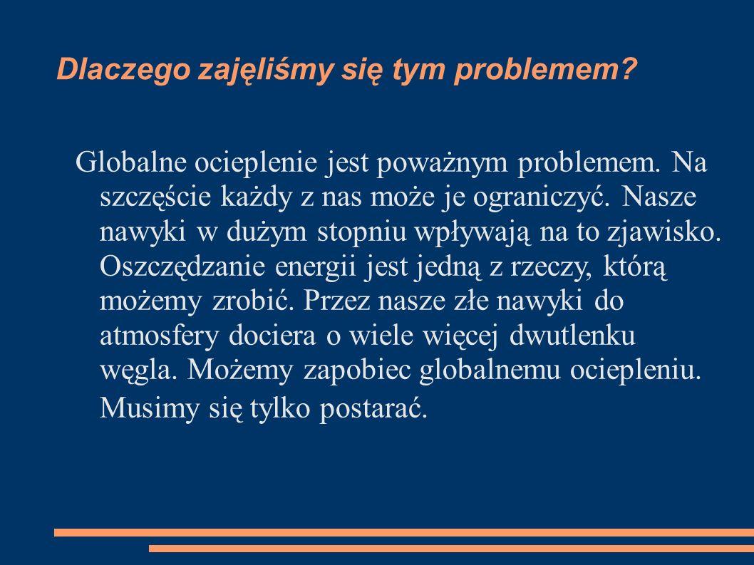 Projekt edukacyjny klasy II gimnazjum Co możemy zrobić, by ograniczyć zużycie energii w domu.