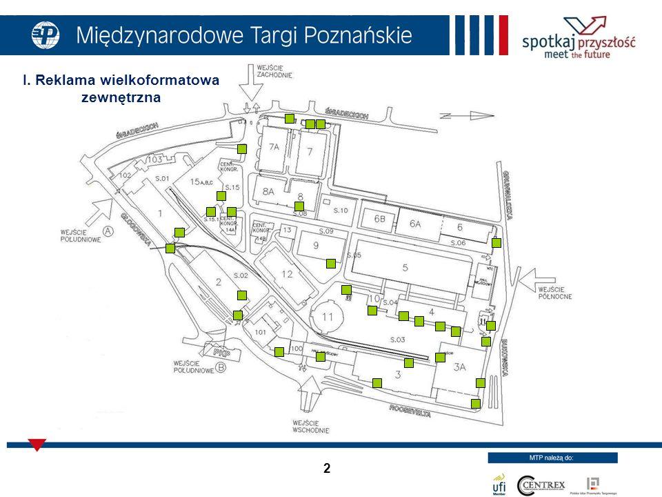 23 Bilbord przy ul.Śniadeckich - tył Warunki techniczne: Wymiary: 5,04m szer.