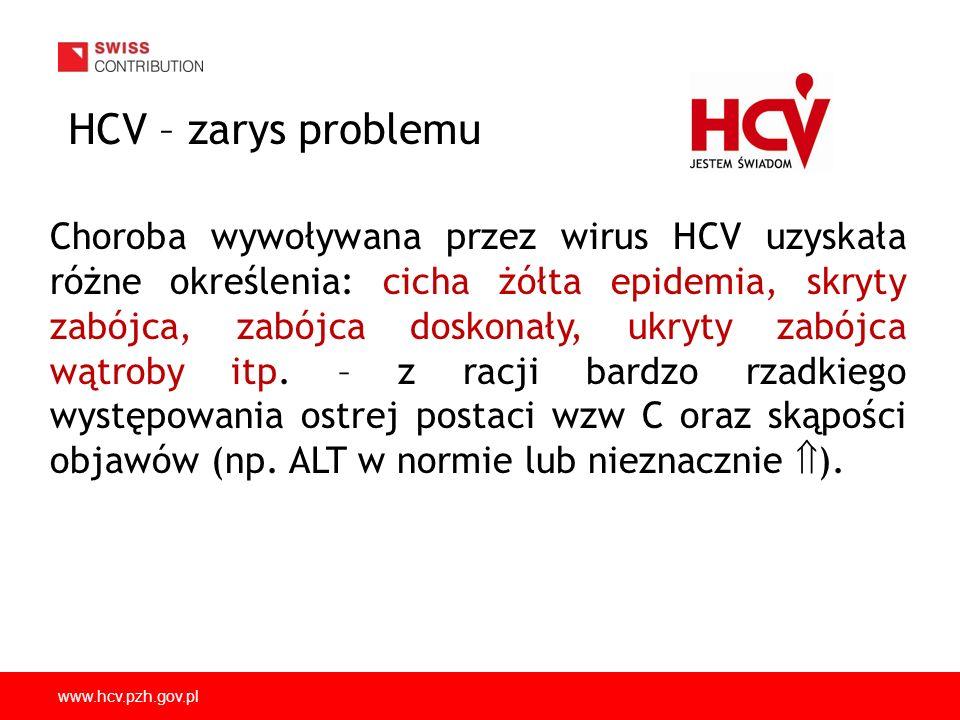 www.hcv.pzh.gov.pl HCV – olbrzymia zmienność wirusa; próby szczepionek E1-E2/C itp., na razie bezskuteczne.
