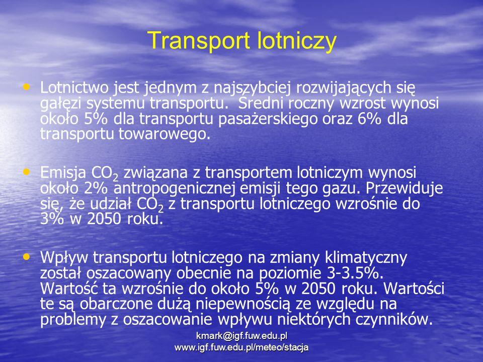 Transport lotniczy Lotnictwo jest jednym z najszybciej rozwijających się gałęzi systemu transportu. Średni roczny wzrost wynosi około 5% dla transport