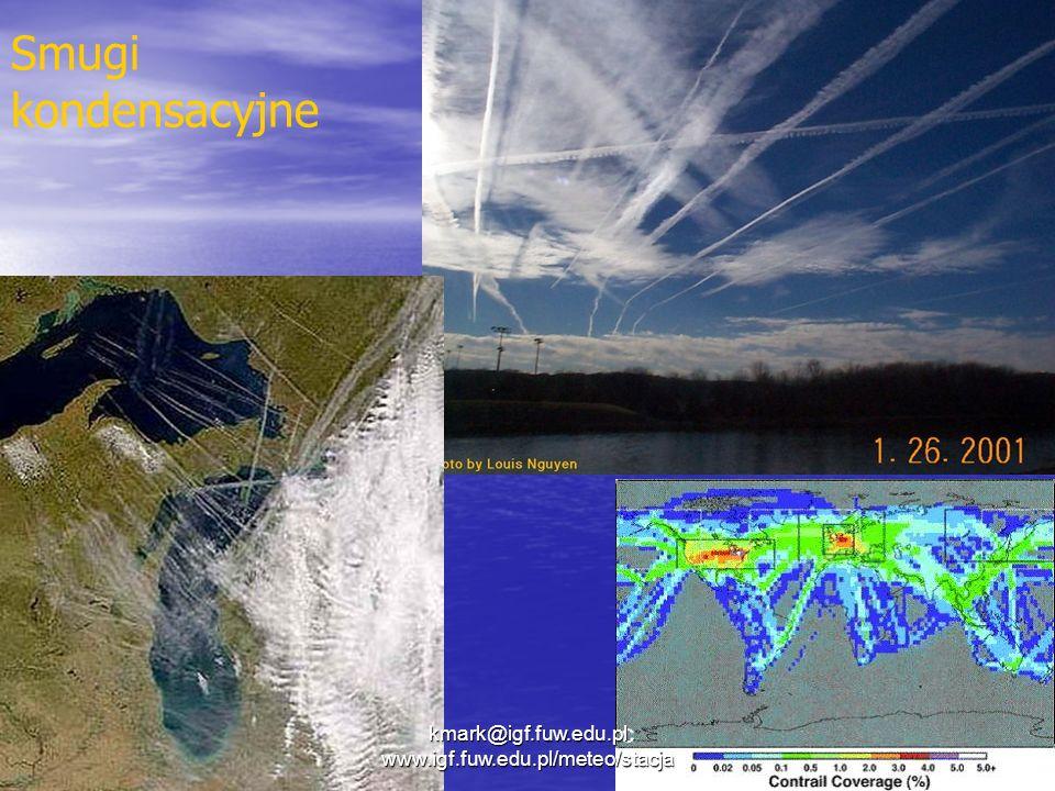 Smugi kondensacyjne kmark@igf.fuw.edu.pl www.igf.fuw.edu.pl/meteo/stacja