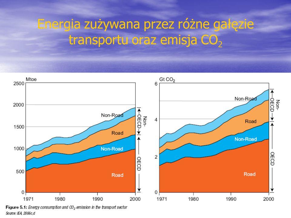 Emisja zanieczyszczeń przez system transportu gazy cieplarniane (para wodna, dwutlenek węgla, ozon, metan, podtlenek azotu) inne gazy (NO x SO x ) pyły związane z niepełnym spalaniem (np.