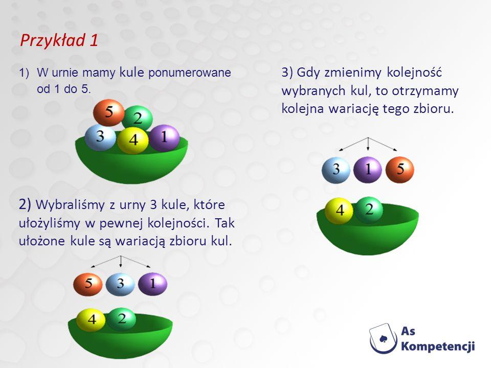 1)W urnie mamy kule ponumerowane od 1 do 5.