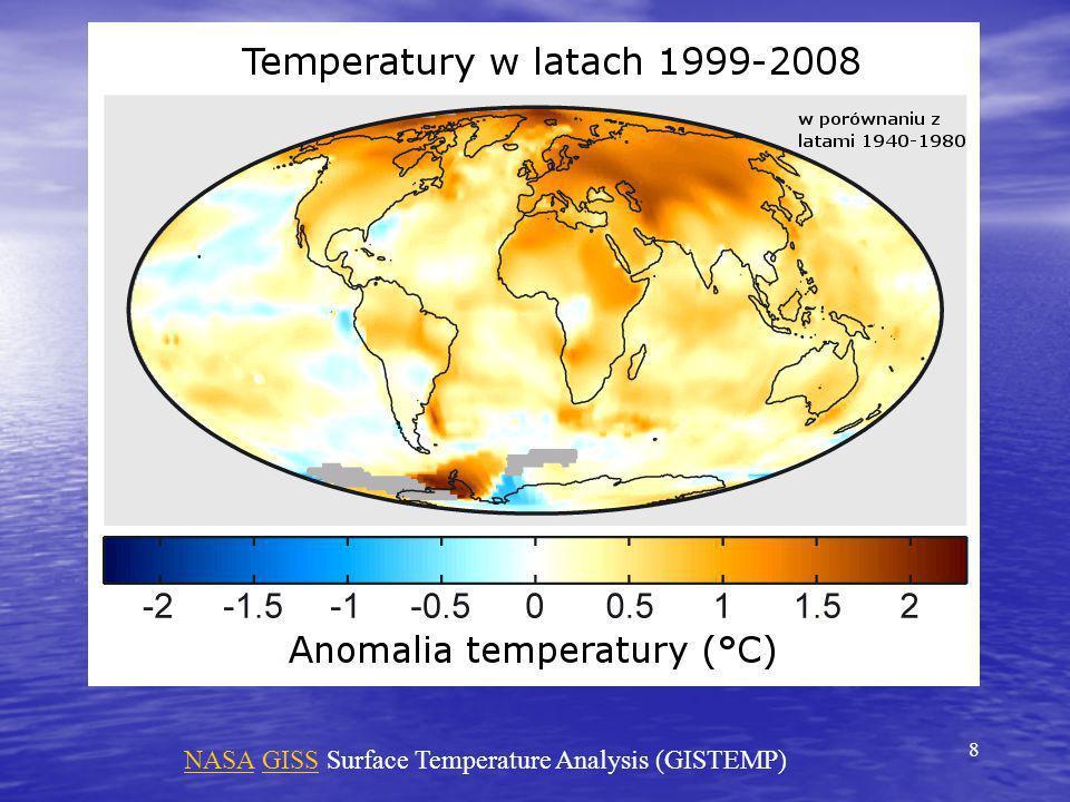 Zmiany temperatury powietrza za ostatnie 100 lat z niepewnościami i poziomem istotności trendu dla stacji pomiarowych na P ó łwyspie Antarktycznym.