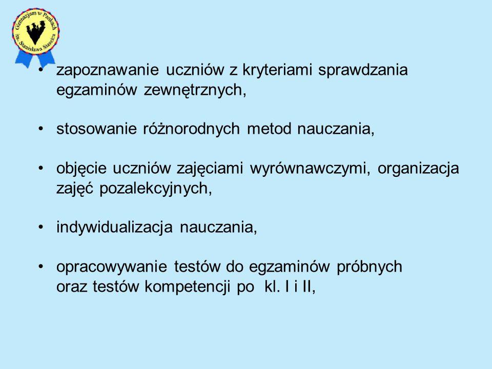 Standard IV Stosowanie zintegrowanej wiedzy i umiejętności do rozwiązywania problemów