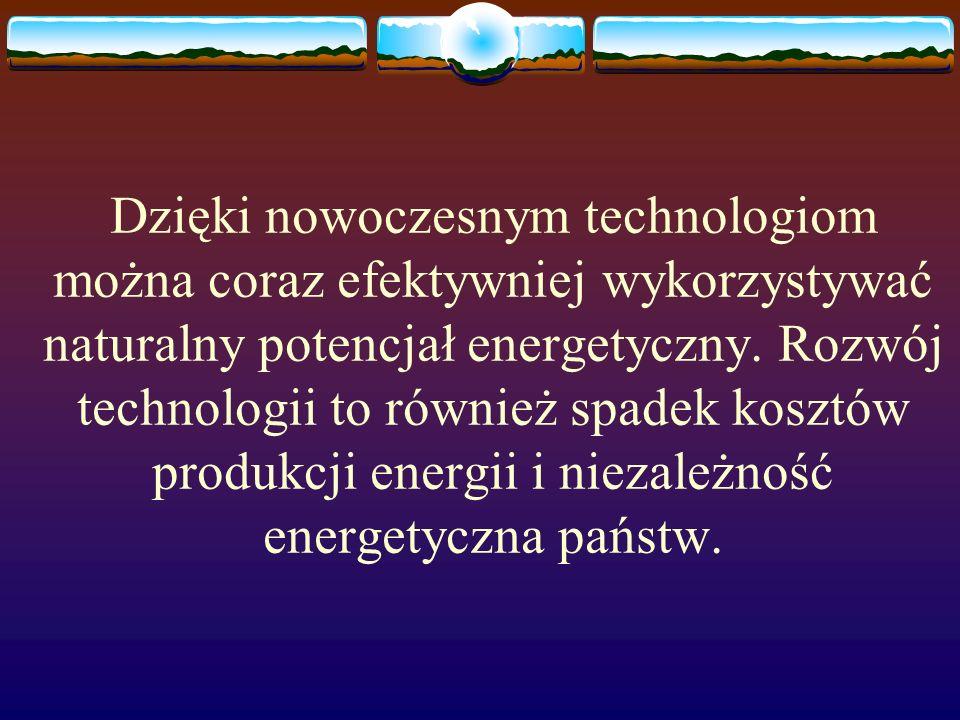 Istnieje pięć grup energii odnawialnych Wodna Biomasy Geotermalna Wiatru Słoneczna Udział procentowy w światowej produkcji en.