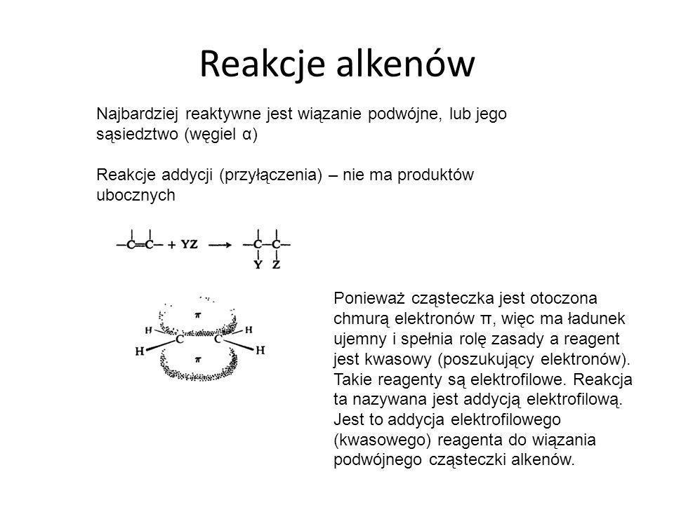 ALKINY I DIENY C n H 2n-2 Najprostszym przestawicielem jest etyn (acetylen) C 2 H 2 W cząsteczce acetylenu atom C jest w stanie hybrydyzacji sp Cząsteczka jest liniowa, wszystkie 4 atomy leżą w linii prostej.