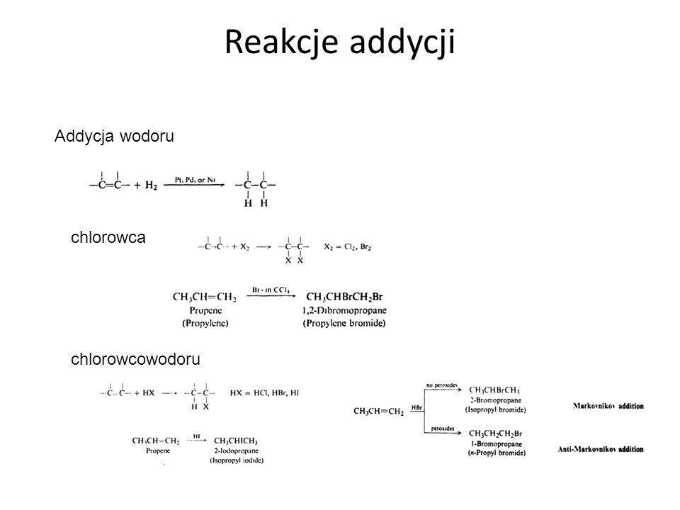Reakcje addycji, c.d.