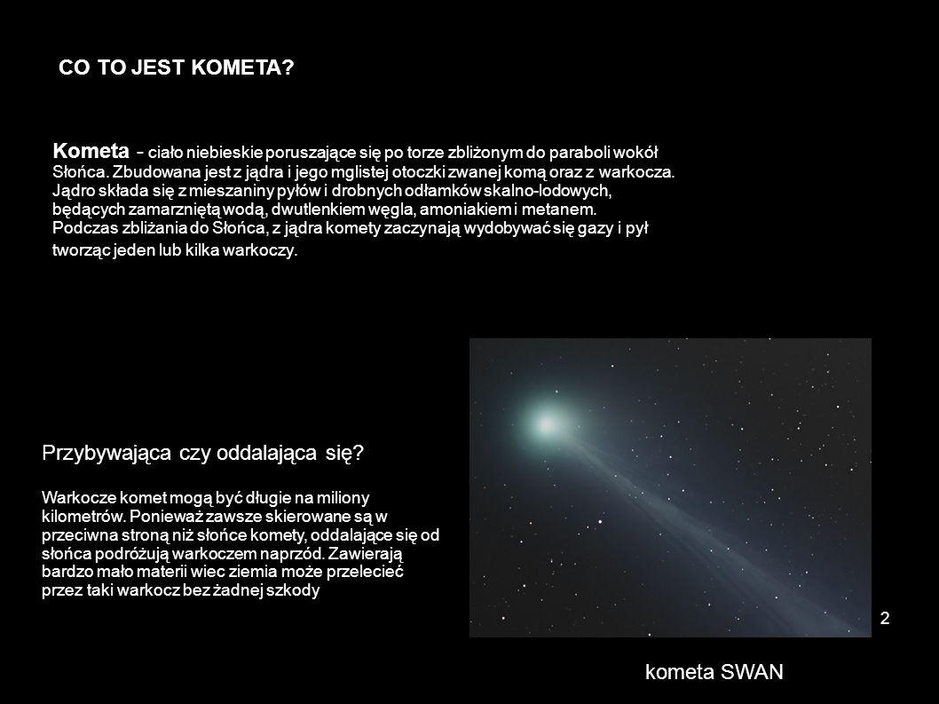 Skąd pochodzą komety.Nie wiadomo skąd dokładnie pochodzą komety.