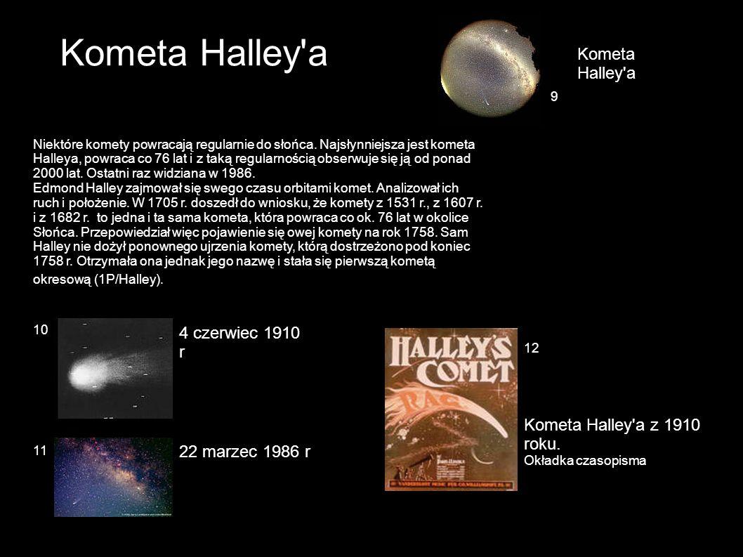 Ku komecie wyruszyło 5 sond kosmicznych dwie rosyjskie (Wega1) i (Wega2), dwie japońskie (Sakigake) i (Suisei) oraz jedna europejska (Giotto).