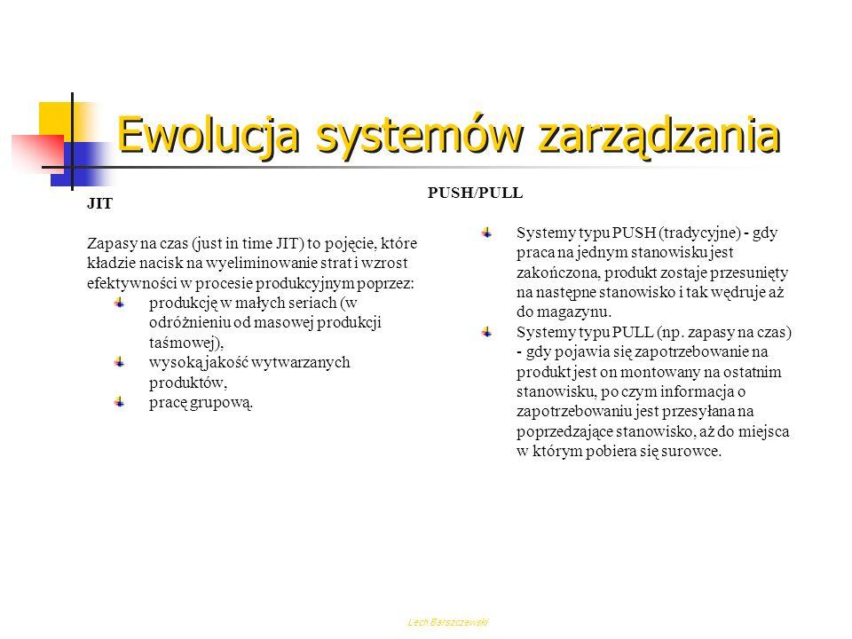 Lech Barszczewski Systemy klasy MRP II / ERP - korzyści dla przedsiębiorstwa Systemy klasy MRP II / ERP należą do klasy systemów zintegrowanych. W zin