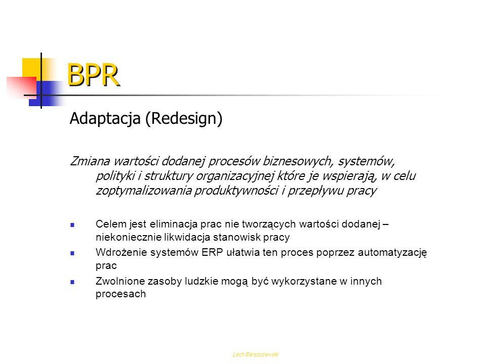 Lech Barszczewski BPR Procesy biznesowe