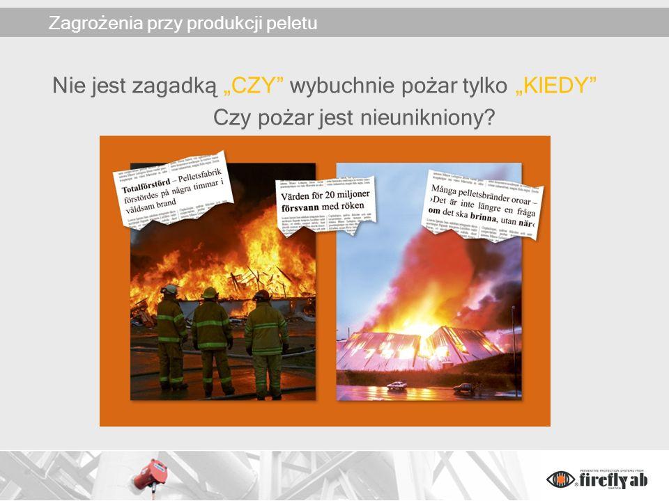 Zagrożenia pożarowe przy produkcji peletu Proces produkcyjny jest bardzo podobny do produkcji płyt wiórowych.