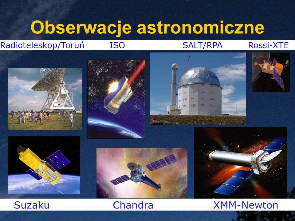 Radioteleskop/Toruń ISO SALT/RPA Rossi-XTE Suzaku Chandra XMM-Newton