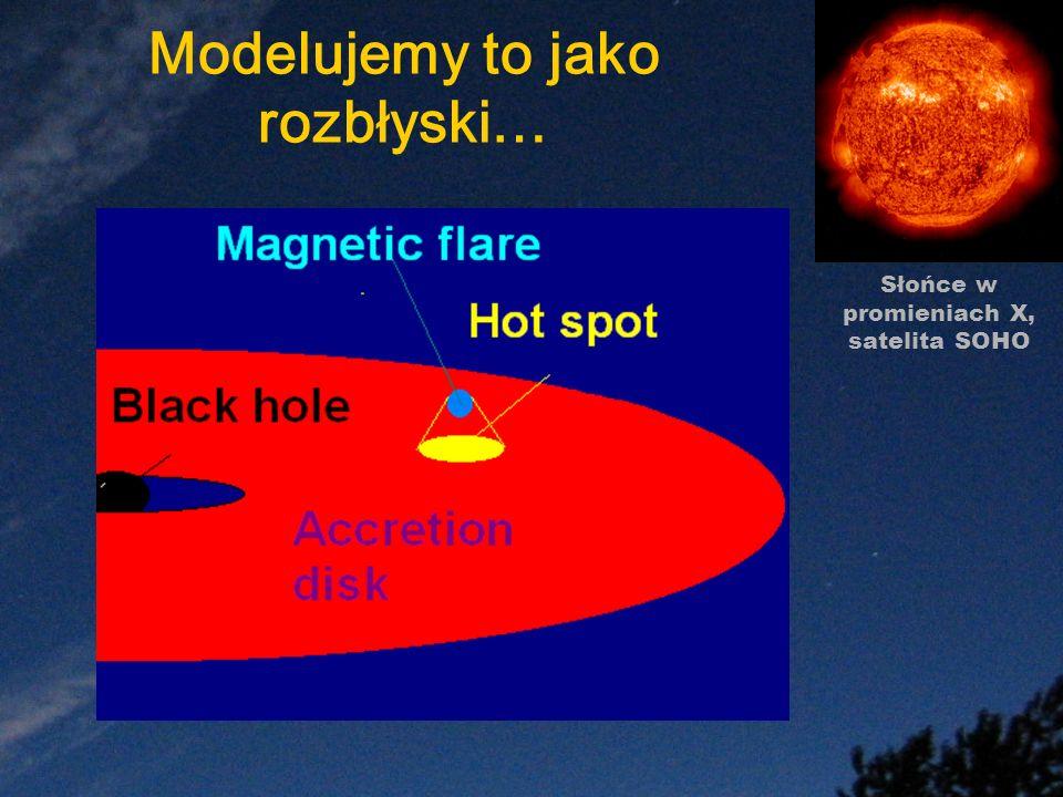 Modelujemy to jako rozbłyski… Słońce w promieniach X, satelita SOHO