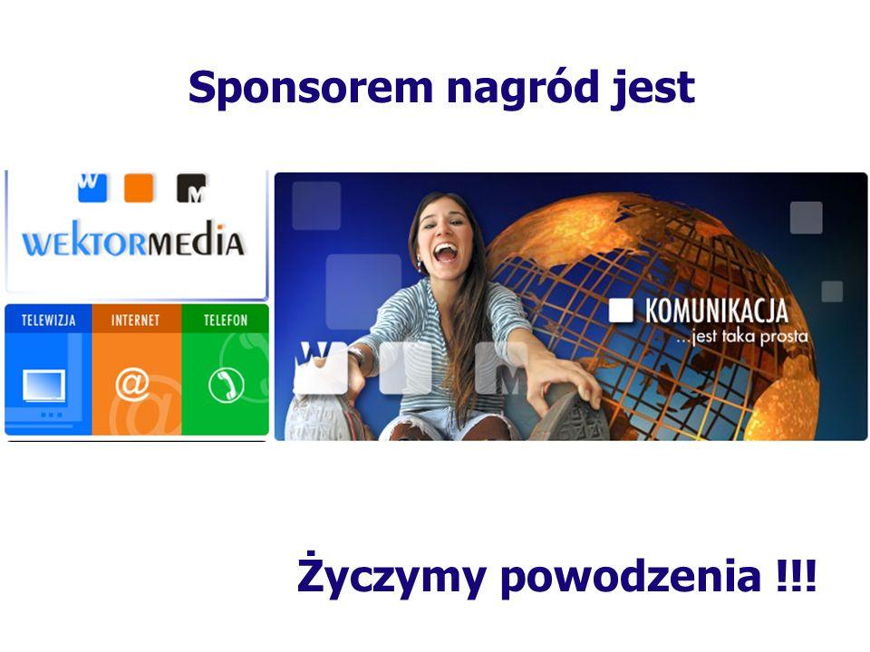 Sponsorem nagrody książkowej jest Sieć księgarni w Żaganiu Wiesławy Martyniak Przyjemnej lektury :) oraz POWODZENIA Oferuje: Najnowsze pozycje książko