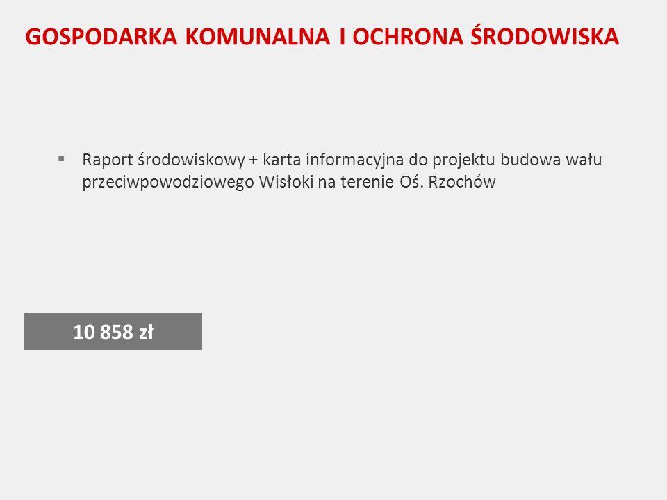 GOSPODARKA KOMUNALNA I OCHRONA ŚRODOWISKA Raport środowiskowy + karta informacyjna do projektu budowa wału przeciwpowodziowego Wisłoki na terenie Oś.