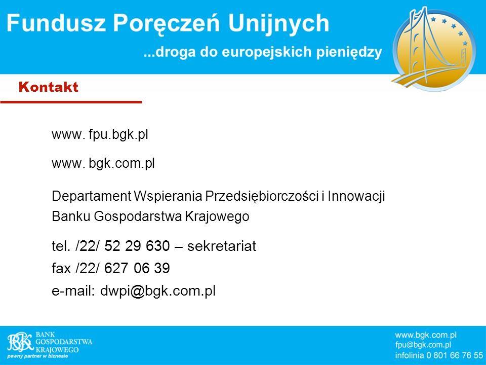 Kontakt www. fpu.bgk.pl www.