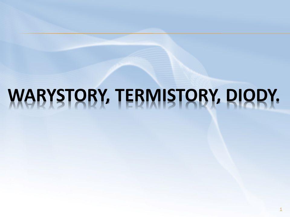Najważniejszymi parametrami diod półprzewodnikowych są: 1) dopuszczalne napięcie wsteczne, 2) dopuszczalny prąd przewodzenia, 3) prąd wsteczny, 4) pojemność diody, 5) maksymalne straty mocy, 6) dopuszczalna temperatura złącza.