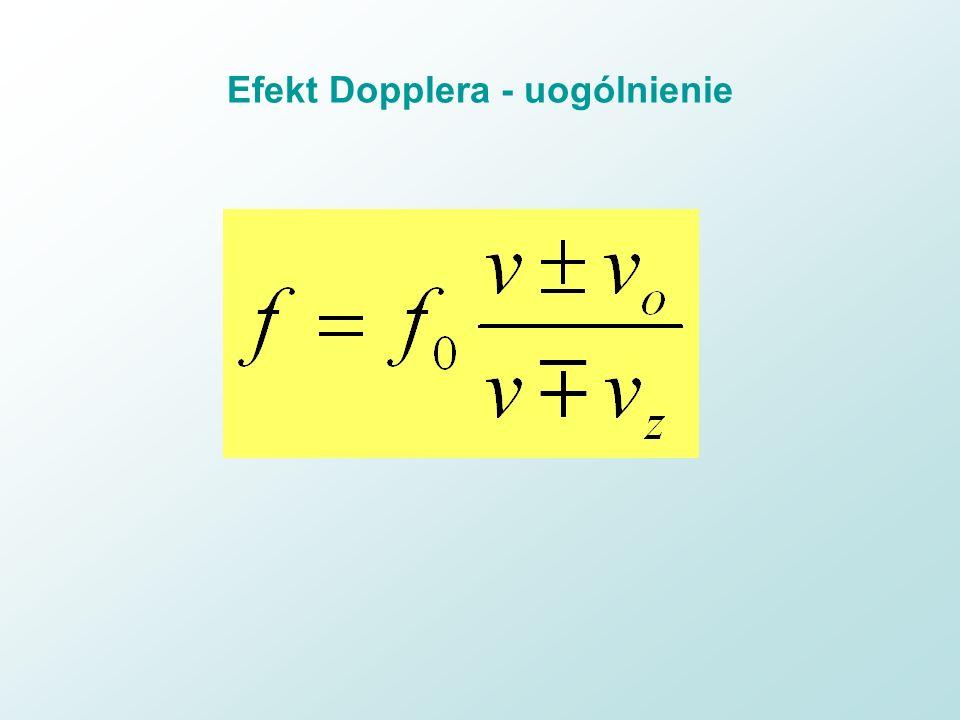 Efekt Dopplera - uogólnienie