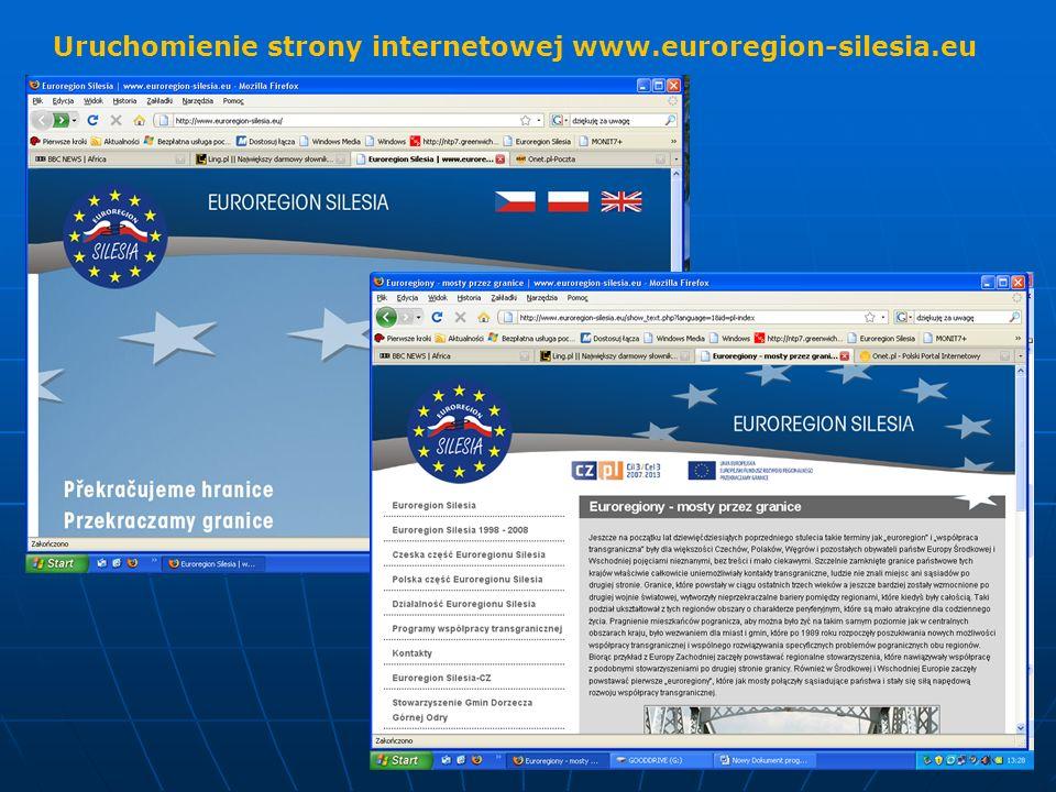 Uruchomienie strony internetowej www.euroregion-silesia.eu