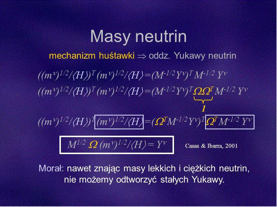 Masy neutrin mechanizm huśtawki oddz.
