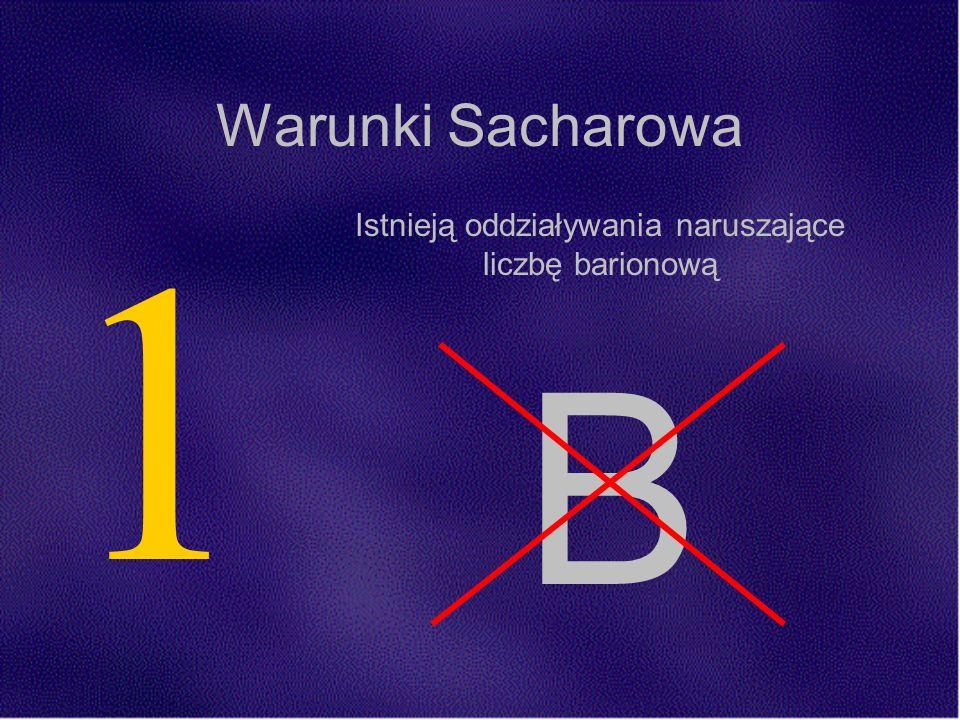 1 Istnieją oddziaływania naruszające liczbę barionową B