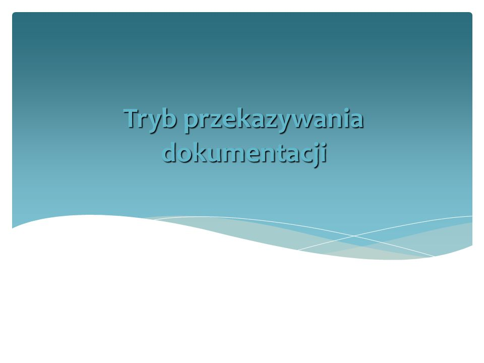 Uzgodnieniu terminu, trybu i warunków przekazania z Archiwum UMK Na 2 tygodnie przed przekazaniem akt przesyłany jest spis zdawczo-odbiorczy (patrz: formularze i wzory do Archiwum UMK) Archiwum UMK po sprawdzeniu prawidłowości spisu zdawczo-odbiorczego wyraża zgodę na przyjęcie dokumentacji Przygotowanie dokumentacji, sporządzenie spisu zdawczo-odbiorczego oraz transportu do Archiwum UMK spoczywa na komórce/jednostce przekazującej ( §28, ust.