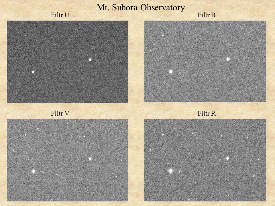 Filtr U Filtr V Filtr B Filtr R Mt. Suhora Observatory