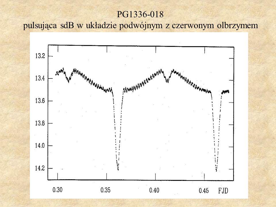 PG1336-018 pulsująca sdB w układzie podwójnym z czerwonym olbrzymem