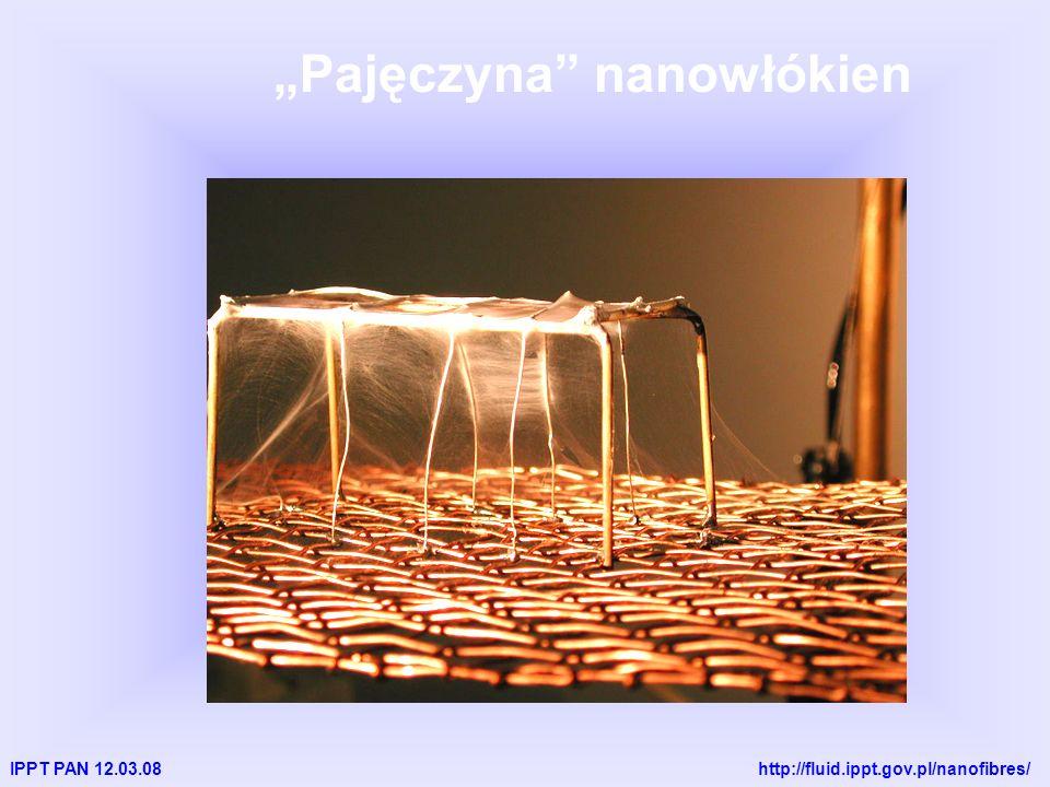 IPPT PAN 12.03.08 http://fluid.ippt.gov.pl/nanofibres/ Pajęczyna nanowłókien