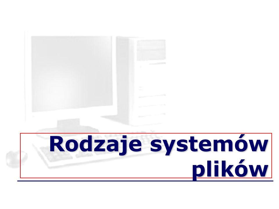 Rodzaje systemów plików