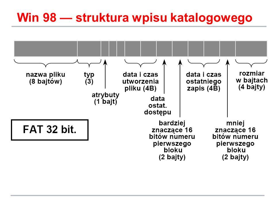 Win 98 struktura wpisu katalogowego
