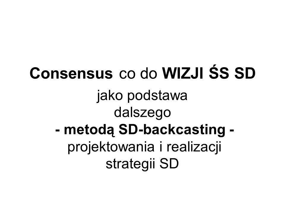Consensus co do WIZJI ŚS SD jako podstawa dalszego - metodą SD-backcasting - projektowania i realizacji strategii SD