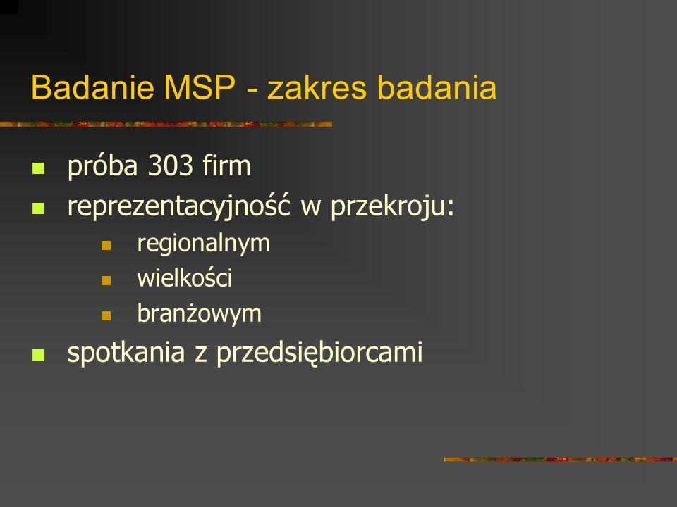 Badanie sektora B+R - zakres badania 23 jednostki badawczo-rozwojowe 12 instytutów i katedr uczelnianych 5 instytutów i zakładów Polskiej Akademii Nauk 3 wyodrębnione jednostki rozwojowe przedsiębiorstw 7 centrów doskonałości zatwierdzonych w V Programie Ramowym UE