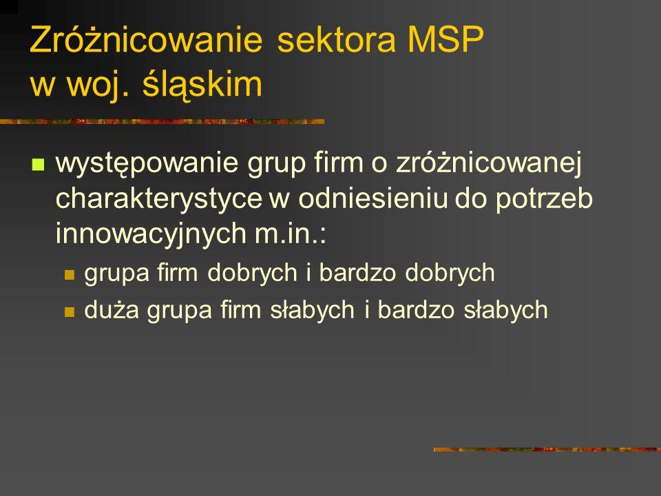 Zróżnicowanie sektora MSP w woj.