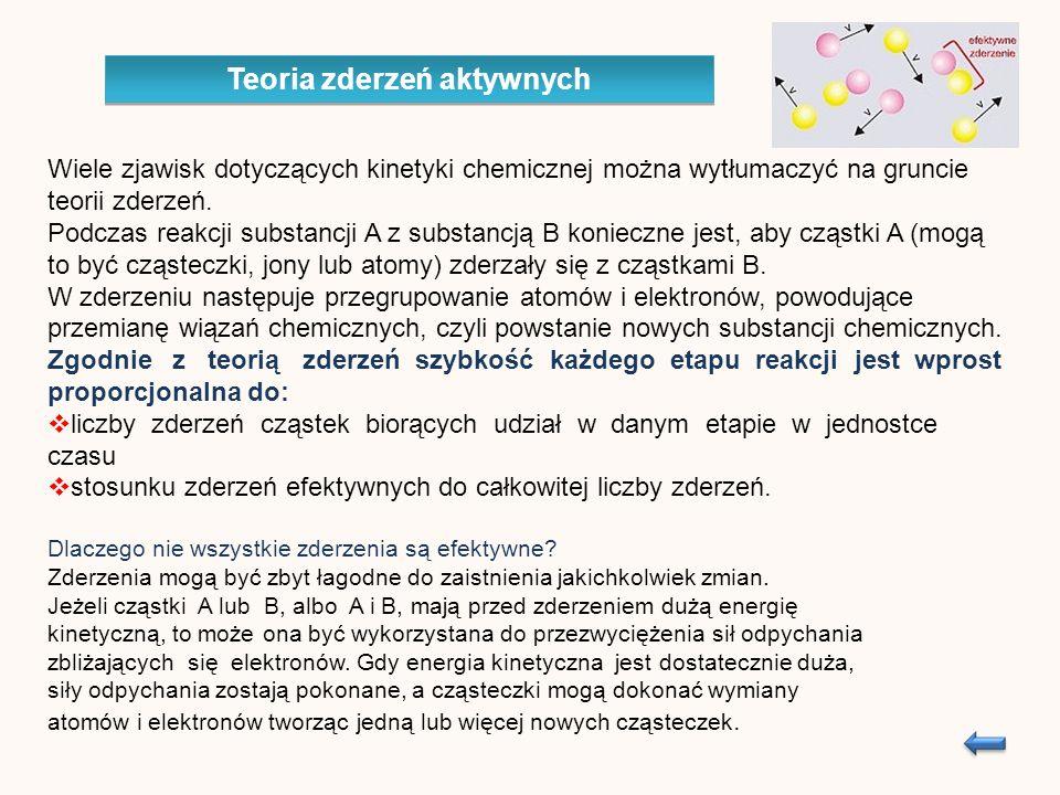Wiele zjawisk dotyczących kinetyki chemicznej można wytłumaczyć na gruncie teorii zderzeń.