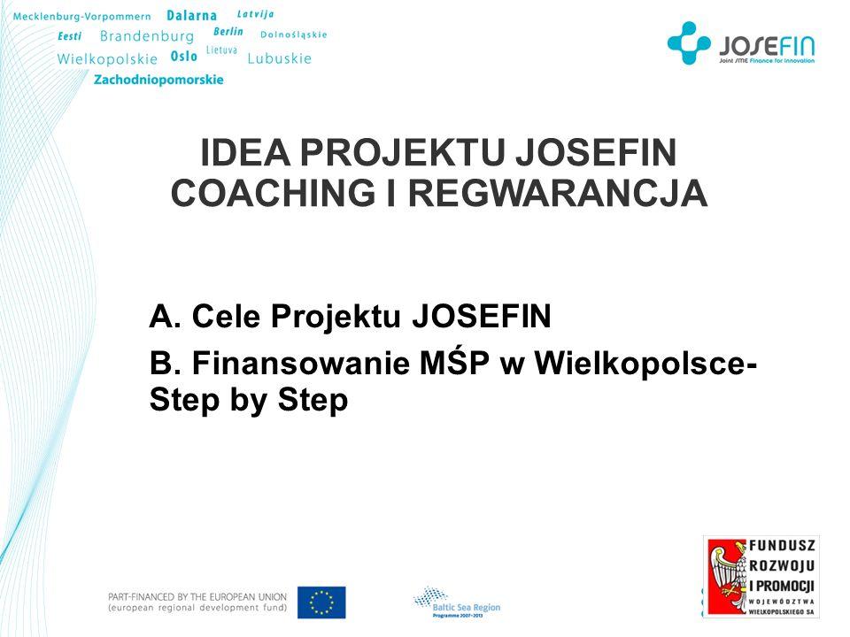 IDEA PROJEKTU JOSEFIN COACHING I REGWARANCJA A. Cele Projektu JOSEFIN B.