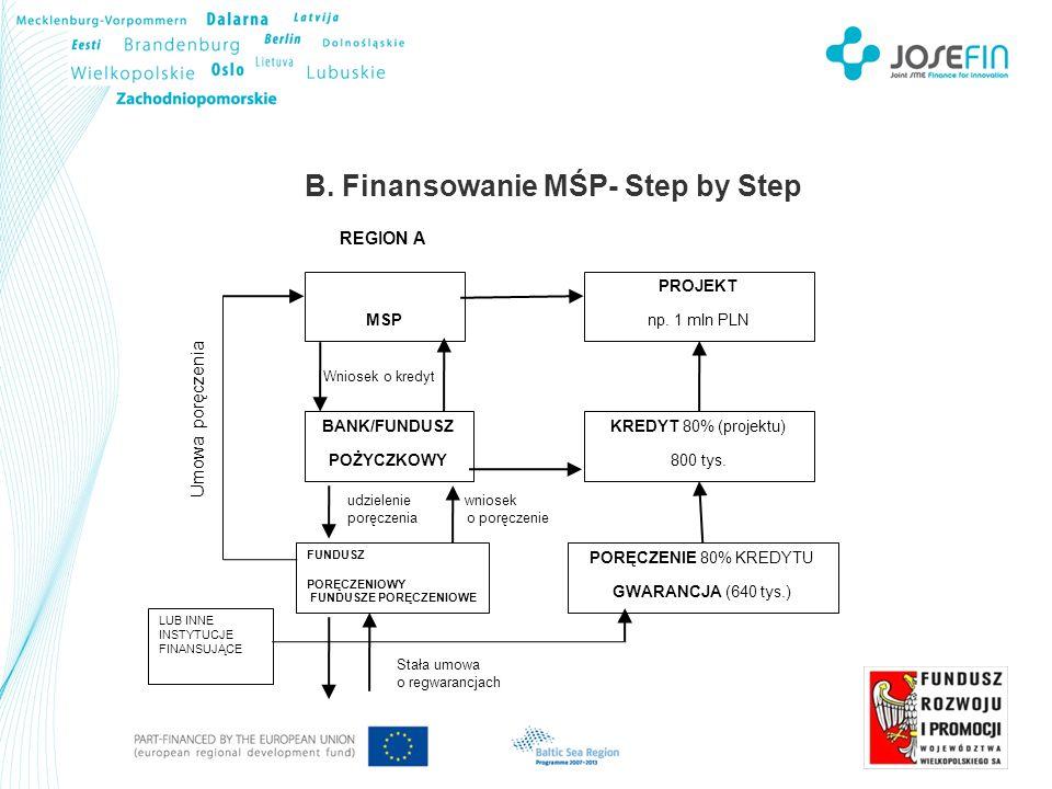 B. Finansowanie MŚP- Step by Step MSP PROJEKT np.