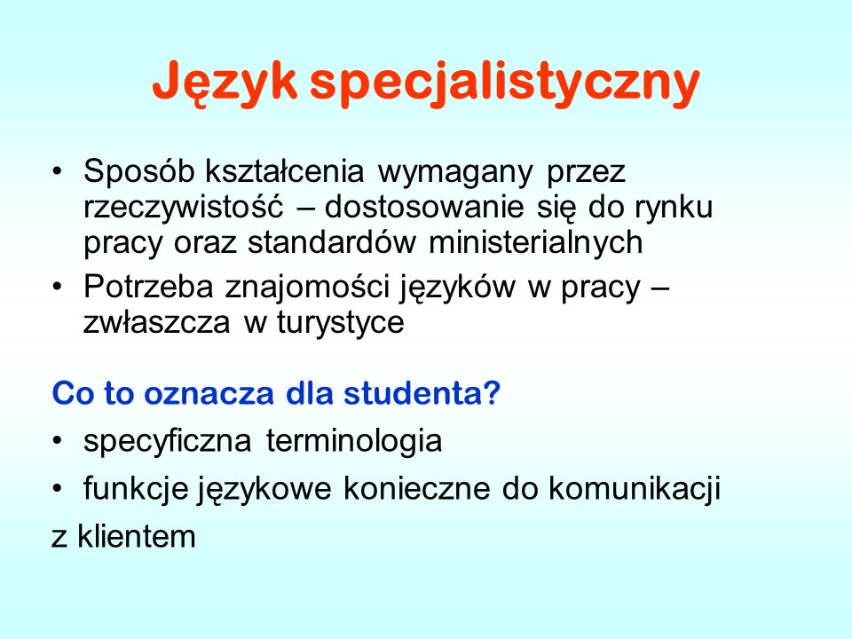 Opracowane kursy z j ę zyka angielskiego w turystyce English for International Tourism Pre- Intermediate A2 English for International Tourism Intermediate B1 Going International B2