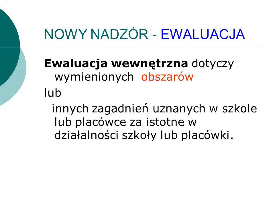 EWALUACJA WEWNĘTRZNA EWALUACJA WEWNĘTRZNA – jest to EWALUACJA WEWNĘTRZNA – jest to ewaluacja organizowana przez dyrektora szkoły lub placówki i przeprowadzana w odniesieniu do wybranych wymagań, o których mowa w § 7 ust.