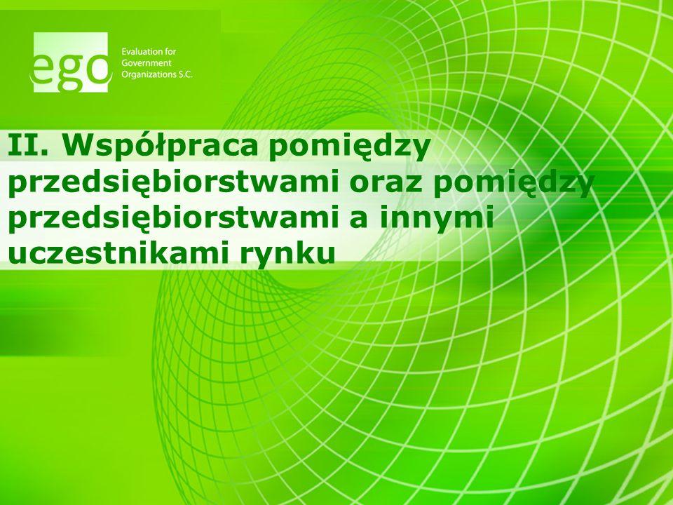8 Potrzeby sektora >Konieczne jest wspieranie współpracy polskich przedsiębiorstw z podmiotami z zagranicy, zarówno w aspekcie wymiany handlowej (eksport), jak i działalności innowacyjnej (zewnętrzne źródła wiedzy).