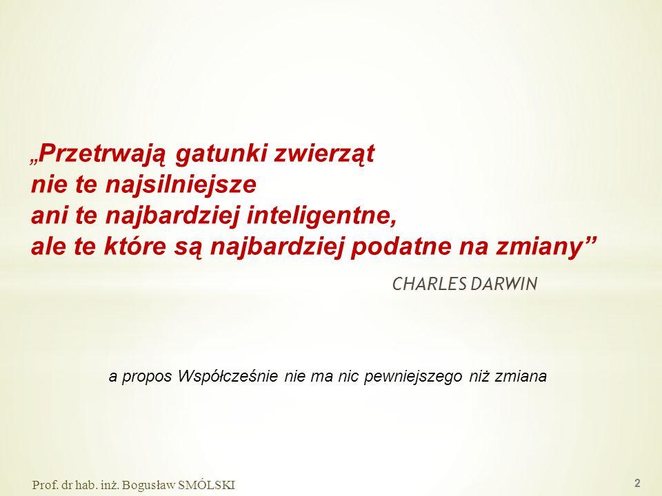 CHARLES DARWIN 2 Przetrwają gatunki zwierząt nie te najsilniejsze ani te najbardziej inteligentne, ale te które są najbardziej podatne na zmiany a pro