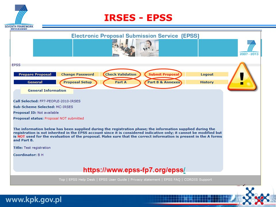 IRSES - B1: Quality of the Exchange Programme B 1.2 Scientific quality of the partners Describe the expertise of the partners in the scientific fields of the cooperation and list their experience in international cooperation (…)sometimes, despite good articulation of transfer of knowledge and even of the design of implementation process, do not give adequate and/or appropriate information on the personal/institutional quality/excellence(…) WAŻNE uzasadnienie wyboru partnerów pod względem naukowym; opis każdego z partnerów: osiągnięcia i umiejętności, współpraca międzynarodowa, key persons, wybrane publikacje (ostatnie 5 lat, uznane czasopisma)