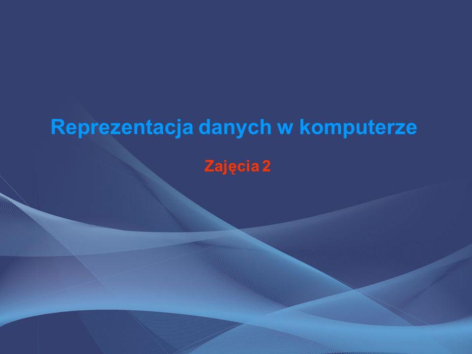 Informacja W informatyce pojęcie informacji (danych) jest niedefiniowalne, tak jak w matematyce pojęcie zbioru.