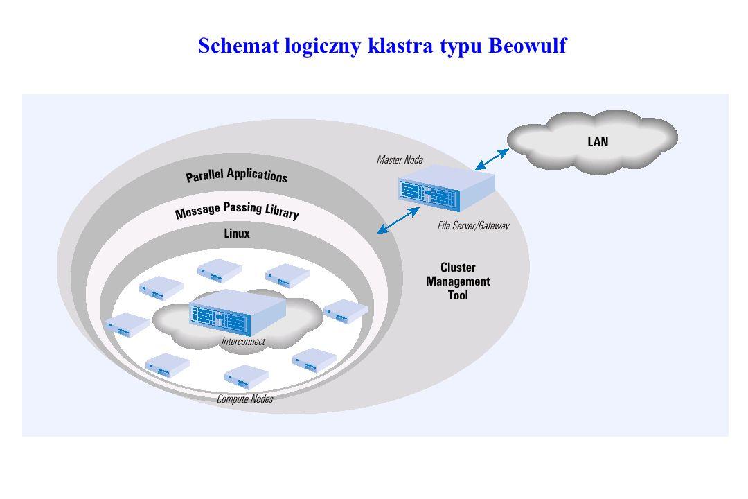 Schemat logiczny klastra typu Beowulf