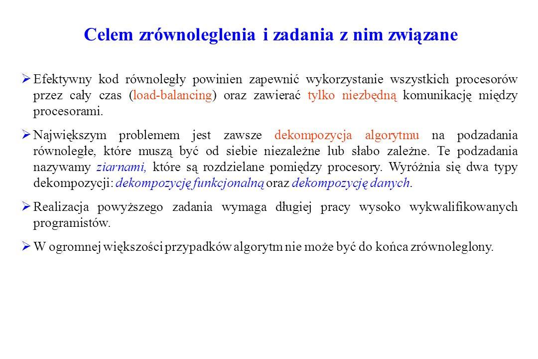 Taksonomia architektur równoległych wg.