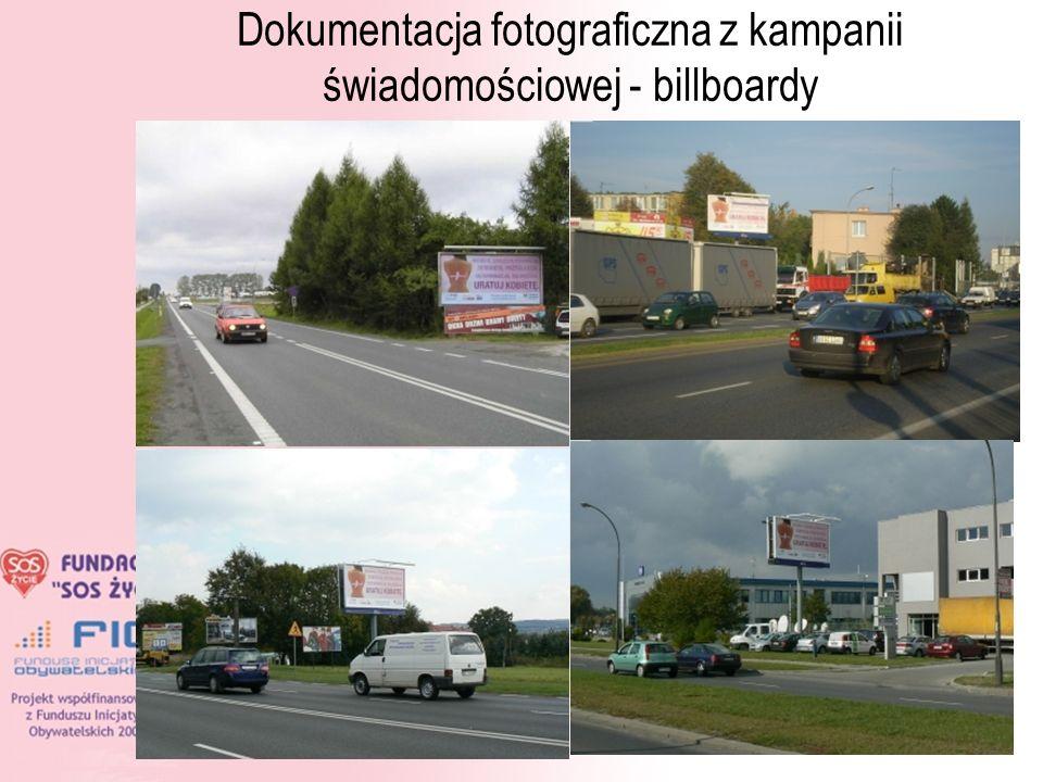 10 Dokumentacja fotograficzna z kampanii świadomościowej - billboardy
